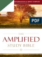 Amplified Study Bible Sampler
