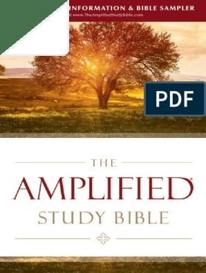Amplified Study Bible Sampler | John The Baptist | Biblical Magi