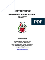 English Report on Prosthethic Leg Project for Gaza War Victim
