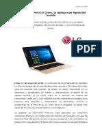NP - LG traerá al Perú LG Gram la laptop más ligera del mundo