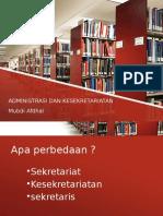 Administrasi Dan Kesekretariatan