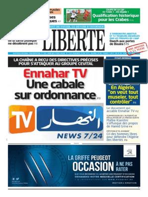 PDF 2013 JOURNAL ENNAHAR GRATUIT TÉLÉCHARGER
