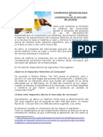 Condiciones tributarias para la  competencia en el mercado de cerveza