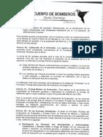 Artículo 91 del Reglamento Interno de selección de personal del Cuerpo de Bomberos del GADM Santo Domingo