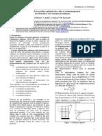 Communication 10eme Congres de Mecanique Oujda