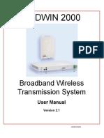 User Manual Radwin 2000