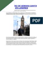 Seminario de Semana Santa en Londres
