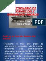 Cuestionario de Informacion y Evaluacion Abordo