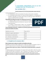 Dispositions de Loi de Finance 2016