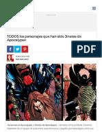 TODOS Los Personajes Que Han Sido Jinetes de Apocalypse - Batanga
