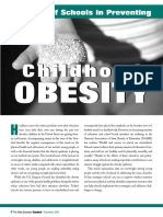 the role of schools in preventing childhood obesity