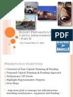 Capital Improvements Program – Part II