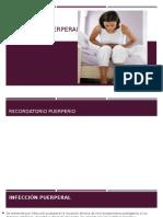 Presentación Infección puerperal
