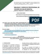 Praxis, Responsabilidad y Ejercicio Profesional de La Psicología en Salud Mental - Carlos Julían Dávila