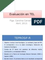 Evaluacion en TEL