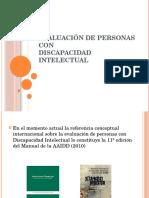 Evaluacion de Personas Con Discapacidad Intelectual