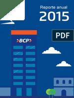 Memoria Anual BCP 2015 Actual