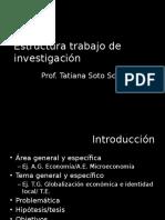Estructura Trabajo de Investigacion Economia y Sociedad