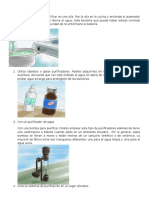 5 Formas de Purificar El Agua