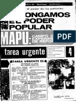 Tarea Urgente, marzo 1973, nro 4