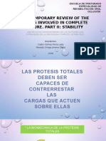 A Contemporary Review of the Factors Involved in Complete Dentures Part II Estabilidad