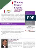 Invitation to 'Winning Clients' Loyalty' Talk (002)