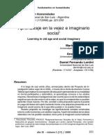 Aprendizaje En La Vejez E imaginario Social