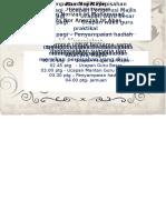 Kad Jemputan Majlis Perpisahan 2013