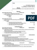 douglas peterson education resume  2016