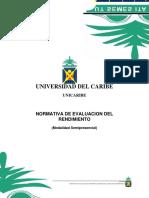 Normativa Evaluacion Modalidad Semipresencial Unicaribe