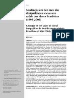 Mudanças em dez anos das desigualdades sociais em saúde dos idosos brasileiros
