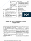 Analysis and Characterization of P-n Junction