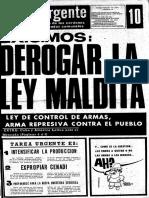 Tarea Urgente, nro 10, julio  1973, Chile.