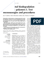 Environmental Biodegradation of Synthetic Polymers I. Test Methodologies and Procedures