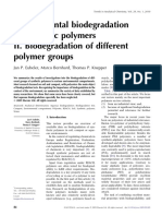 Environmental Biodegradation of Synthetic Polymers II. Biodegradation of Different Polymer Groups
