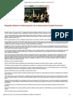 10-05-16 Respalda Gobierno Federal gestión de la Gobernadora Claudia Pavlovich. -Kiosko Mayor