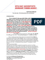 Do Seventh Day Adventists Worship Three Gods