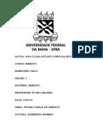 Fichamento - TEORIA GERAL DO DIREITO - NORBERTO BOBBIO.docx