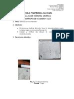 Informe 1 Reconocimiento de discontinuidades en soldadura fundicion