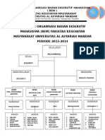 Struktur Organisasi Bem Fakultas Kesehatan Masyarakat Periode 2013