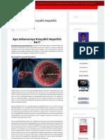 Apa Sebenarnya Penyakit Hepatitis Itu?? | OBAT HEPATITIS PALING AMPUH