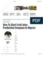 How to Start Fruit Juice Production Business in Nigeria