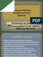 Pemaparan mengenai Rencana Pembentukan HIMA KS Indonesia
