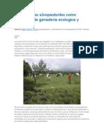 Los Sistemas Silvopastoriles Como Estrategia de Ganaderia Ecologica y Productiva