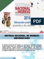 Presentación Del Sni 2016 - Estudiante