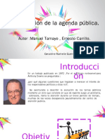 La Formación de La Agenda Pública.