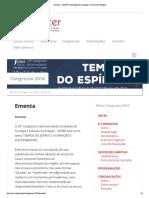 Ementa - SOTER _ Sociedade de Teologia e Ciência Da Religião