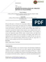 Different Variables Investigation of Athletic Identity in Team Sport