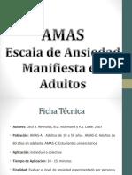 (AMAS) Escala de Ansiedad Manifiesta en Adultos