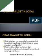 Obat Analgetik Lokal
